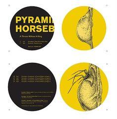feral pig: PYRAMIDS/HORSEBACK: ATWK #design #illustration #typography #music #pyramids #aaron turner #horseback