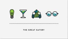 Iconic #graphic design #icons #gatsby