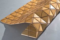 Forget furniture assembly with missing or extra parts! Wood-Skin's customizable panel of origami furniture material folds into any structure #product #design #modern