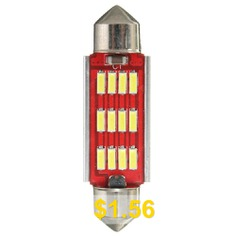 White #Festoon #Canbus #Error #Free #Interior #Light #Bulb #36 #39 #42mm #12SMD #4014 #LED #- #RED #AND #SILVER