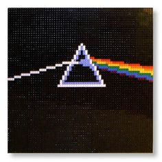 FFFFOUND! | LEGO Pink Floyd - The Dark Side of the Moon album cover : a LEGO® creation by Eric Hunter : MOCpages.com #side #lego #pink #of #the #floyd #dark #moon
