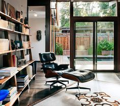 CJWHO ™ (Modern captured by Drew Kelly) #interiors #kelly #drew #photography #leather #library #livingroom