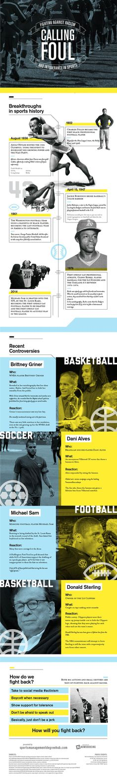 Donald Sterling is hardly the only person responsible for racism in sports.Learn more from this infographic. #infographic #donald #racism #sports #sterling