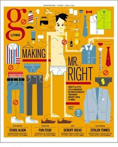 Making Of Mr Right - Coverjunkie.com #magazines #illustration #figures #covers
