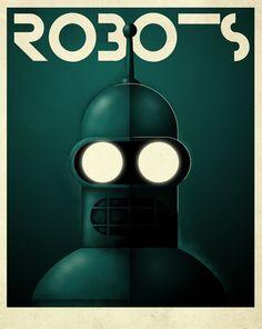 Robots Bender #illustration #retro #bender #robot