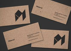 material business cards #business #card #print #craft #kraft