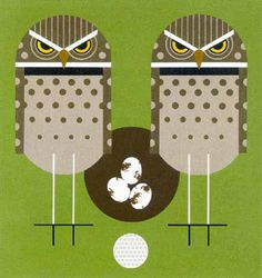 Owls - Charley Harper #charley #illustration #harper #owl