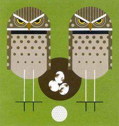 Owls - Charley Harper