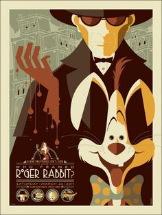 Mondo: The Archive | Tom Whalen Who Framed Roger Rabbit?, 2011 #movie #poster