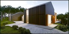 Kauno marios on the Behance Network #house #visualisation #dizonaurai #wood #architectural