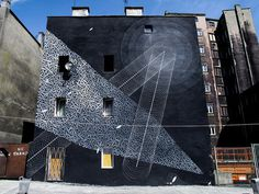 Tellas brings abstract, nature inspired art to city streets #abstract #geometry #mural #wall #art #street #painting
