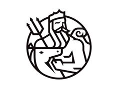 Poseidon by Matt Lehman #branding #icon #monoline #geometric #logo #magazine
