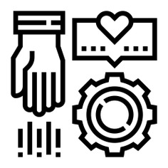 See more icon inspiration related to Sponsor, assist, support, help, share, hands and gestures, aid, sharing and gear on Flaticon.