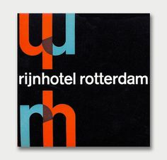 International Mid-Century Modern Luggage Labels – Part 2 / Aqua-Velvet #rotterdam #rijnhotel #modernism #1960 #typography