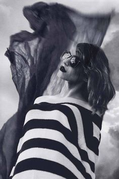Wind - Fashion Photography Series by Katya Latanskaya #wind #woman #stripes #sunglasses #fashion #style