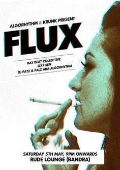 Flux Gig Poster #live #invite #flux #gig #indie #poster #music