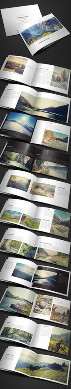 Modern Photography Portfolio, Wedding Album #layout #design #photography #book