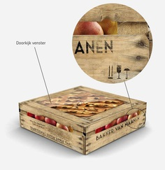 Apple pie packaging for Bakker van Maanen by The Ad Agency