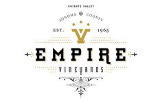 Empire Vineyards by Fred Carriedo at mr cup.com #scroll #label #wine #brand #typography