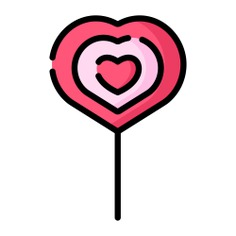 See more icon inspiration related to lollipop, love and romance, food and restaurant, sweets, dessert, love, candy, sugar and food on Flaticon.