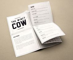 The Winey Cow #menu