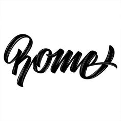 Rome Vectorized lettering - Part of the World series 🌍 - - #typespire #50words #calligraphy #handlettering #typetopia #artoftype #ligatur