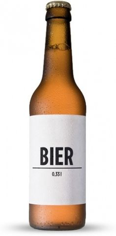 BIER « BIER & WEINSCHORLE – Geschmack braucht keinen Namen #packaging #labelling