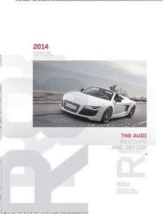Audi R8 Brochure // Cover designs