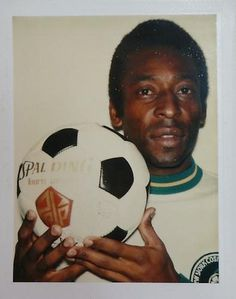 "Pele + Polaroid + Warhol, 1977. From ""Andy Warhol... - Covenger & Kester #andy #warhol #polaroid"