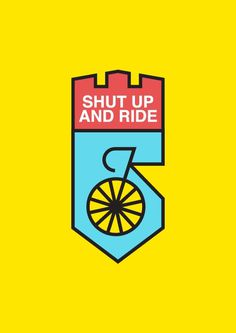 Shut up and ride on Behance #fixie #bicycle #icon #ride #bike