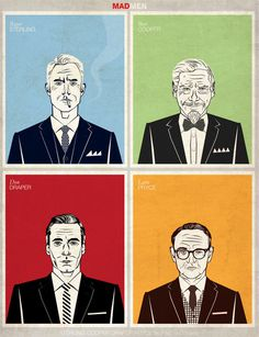 Sterling Cooper Draper Pryce on the Behance Network #portrait #mad #men