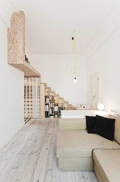 29sqm / 3XA by Ewa Czerny | Yellowtrace #interior #wood #shelves #steps