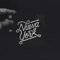 Nueva York by Raul Alejandro. #script #hand #letterinf #typography