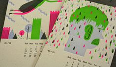 Design Work Life » 2013 Studio On Fire Desk Calendar #colour