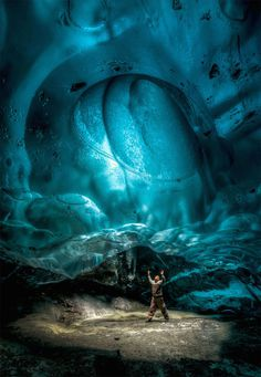 Stunning Alaskan Ice Cave -3 #interior #frozen #underground #geology #cave #landscape #glacier #photography #nature #ice #science