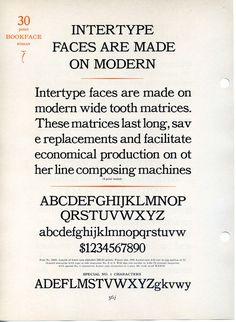Bookface was Intertype's copy of Bookman. #type #specimen #bookman #typography