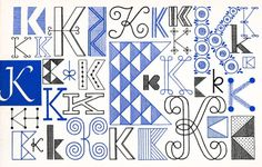 K, Embroidery Letterforms, Present and Correct