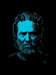 This was an illustration of Jeff Bridges for an editorial on the new Tron movie & I\'ve wanted to rip it off for ages. So good!