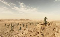 simon brann thorpe photographs real soldiers posed as toy figurines