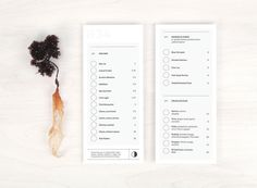 Row 34 Oyster Card #menu #print