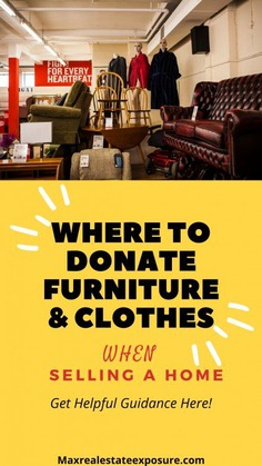 Where You Can Donate Furniture and Clothes