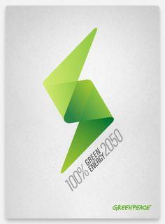 Greenpeace on the Behance Network #peace #energy #green
