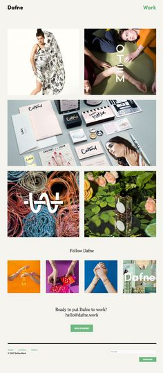 Dafne - Mindsparkle Mag - Dafne's website is a beautiful webdesign portfolio created by graphic designer Catherine Duffy that was awarded as