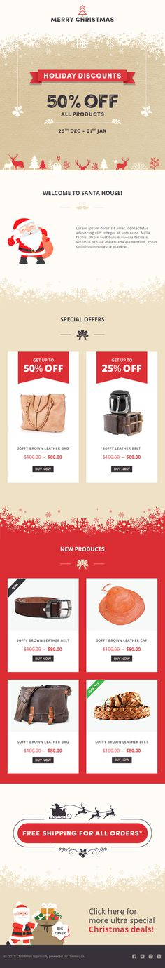 #Christmas #Responsive #Email Template with Online #Builder for Christmas #Offers http://goo.gl/f3Dnmt