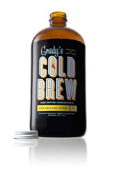 Gradys_Cold_Brew.jpg #packaging #cyclone #label #typography