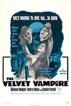 The Velvet Vampire (1971)Watch Film Here #movie #retro #poster