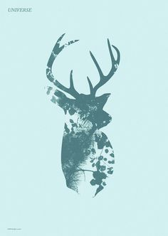 Make Something Cool Every Day 2009 on Behance #reindeer #silhouette