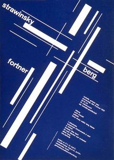Visual Kontakt - Design, Fashion, Photography, Architecture, Illustration and Typography: Josef Müller-Brockmann: Design #brockmann #swiss #white #grids #design #poster #blue #mller #josef #typography