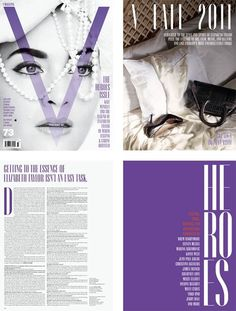 Design Work Life » cataloging inspiration daily #purple #perls #magazine