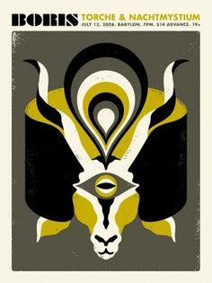 GigPosters.com - Boris - Torche - Nachtmystium #doublenaut #gig #design #print #screen #illustration #poster